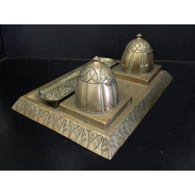 Gold Antique Art Deco Desk Set For Sale - Image 8 of 8