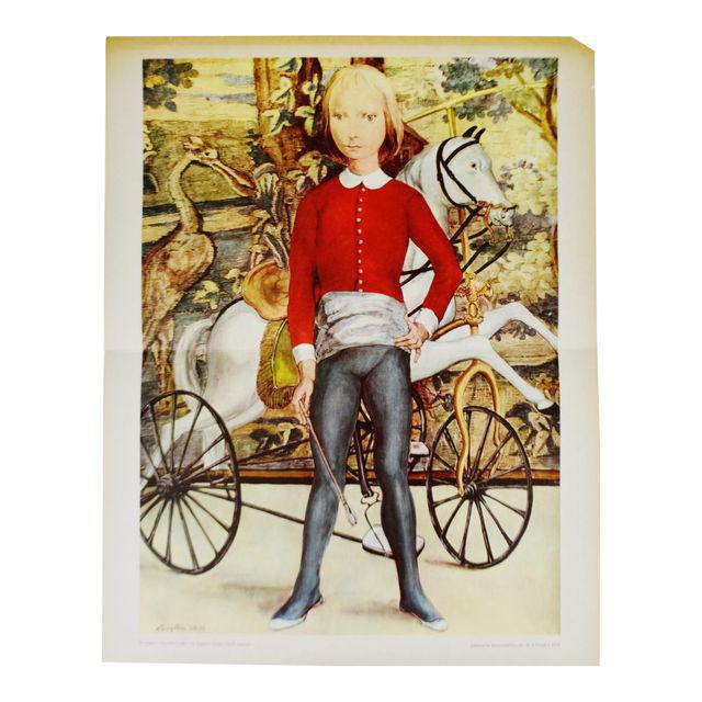 "Tsuguharu Foujita ""Little Cavalier"" Mid-Century Print For Sale - Image 10 of 10"