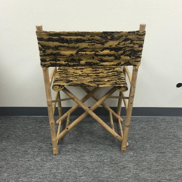 Primitive Schumacher Fabric Folding Safari Chair For Sale - Image 3 of 7