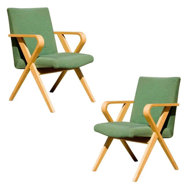 Henry Glass Designed Thonet Bentwood Upholstered Armchairs - a Pair For Sale In Los Angeles - Image 6 of 6