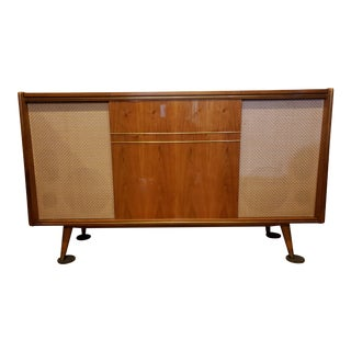 Fully Functional Emud Mid-Century Modern Console Radio Phonograph For Sale