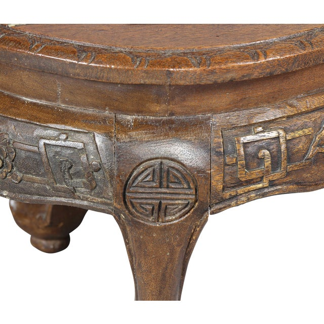 Wood Chinese Hardstone Mounted Coffee Table For Sale - Image 7 of 13