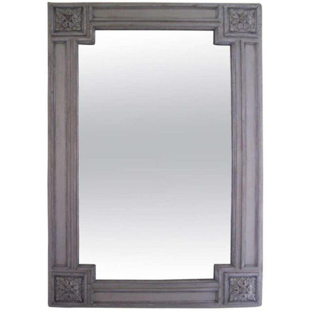 19th C. Italian Painted Church Frame Wall Mirror For Sale - Image 9 of 9