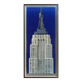"""Richard Haas, """"Empire State Building"""", Photorealist Lithograph on Aluminum For Sale"""