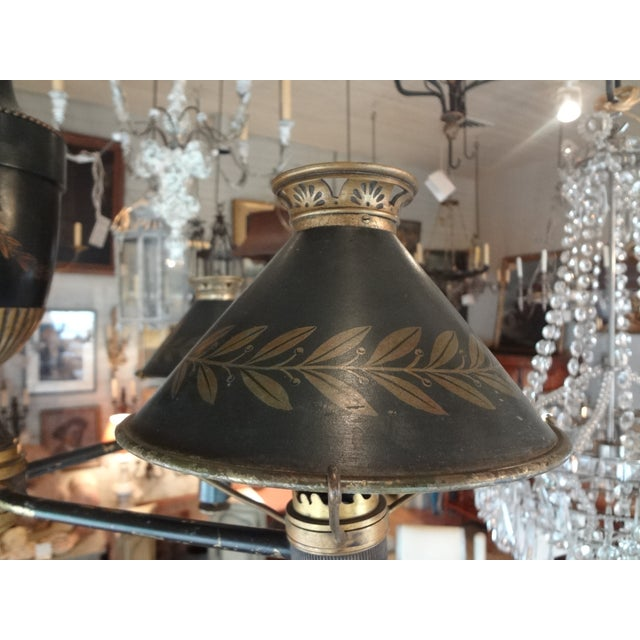19th Century French Bronze Chandelier With Bonnets For Sale In New Orleans - Image 6 of 11