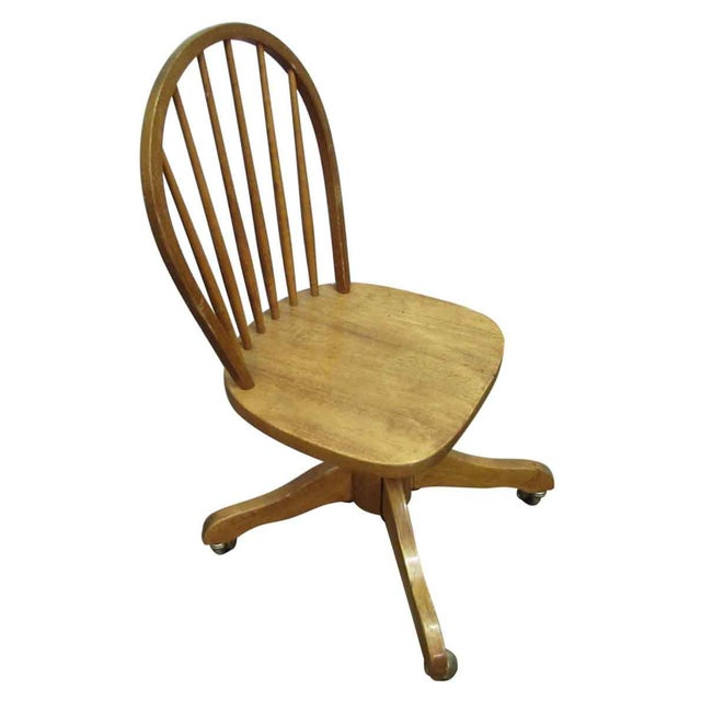 Windsor Chair on Casters For Sale - Image 4 of 9