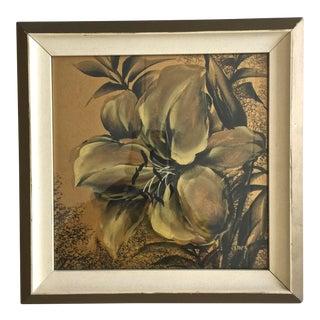 1960's G. Inez Original Framed Floral Painting #1 For Sale