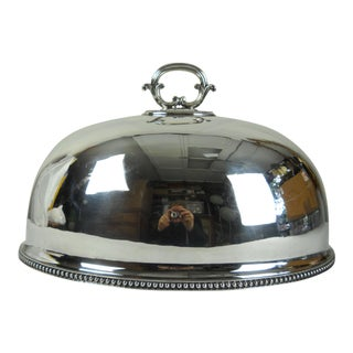 Large English Silver-Plate Serving Dome