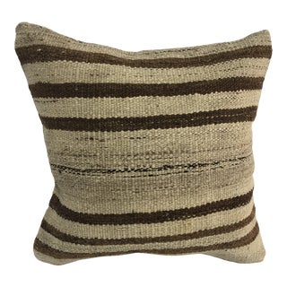 Turkish Handmade Vintage Tribal Kilim Pillow Cover For Sale
