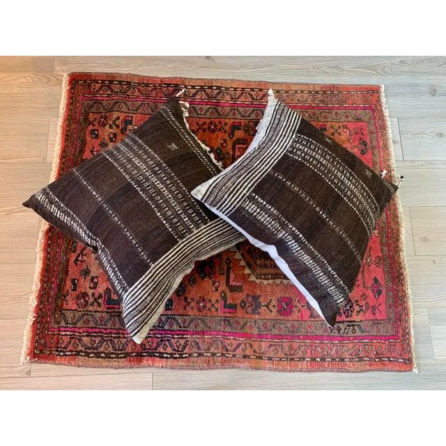 Vintage Persian Serapi Heriz Area Rug- 3′3″ × 3′8″ For Sale - Image 4 of 8