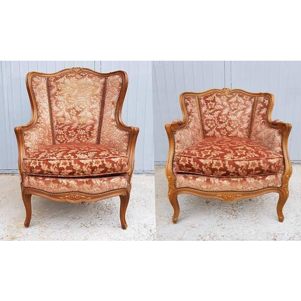 Pink Three Piece French Antique Louis XV Style Carved Parlor Suite Sofa Canape Loveseat For Sale In New York - Image 6 of 13