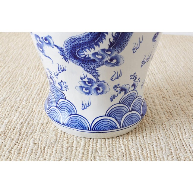 Ceramic Oversized Chinese Blue and White Porcelain Ginger Jar For Sale - Image 7 of 13