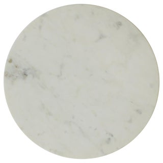 Round White Marble Trivet For Sale