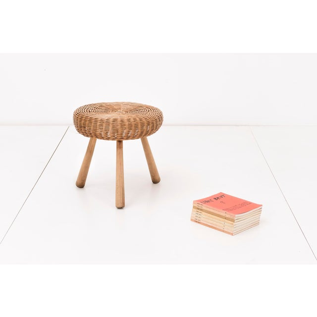 Tony Paul Rattan Stool For Sale In New York - Image 6 of 6