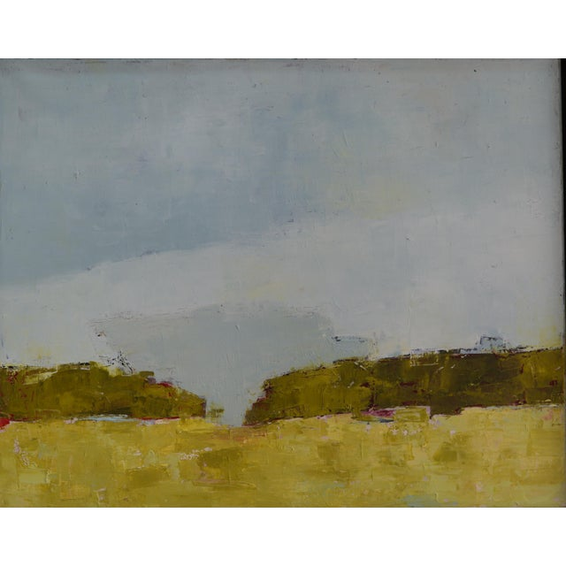 Abstract landscape painting oil on canvas. By Bill Tansey.