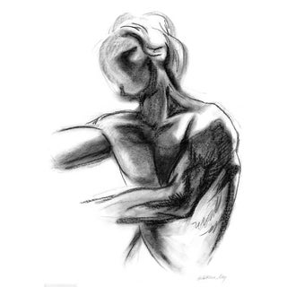 Torso 2 Charcoal Life Drawing by Kathleen Ney For Sale