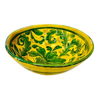 Vintage Painted Italian Bowl For Sale