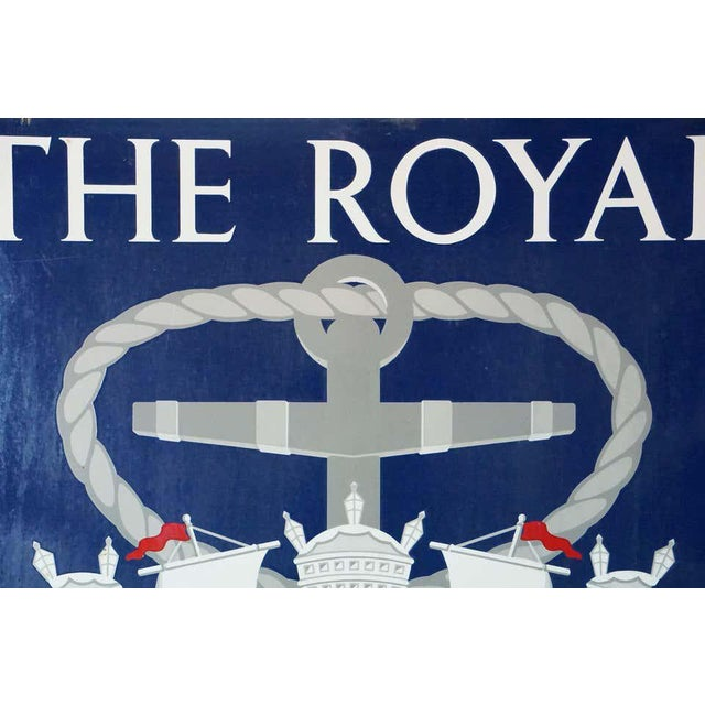 "Vinage English Pub Sign, ""The Royal Naval Arms"" For Sale - Image 9 of 13"