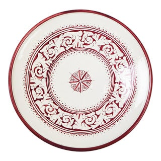 Toubkal Red & White Plate