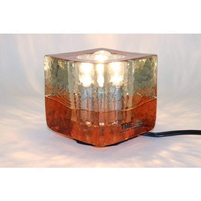 Late 20th Century Orange Mid-Century Modern Murano Glass Table Lamp For Sale - Image 5 of 13