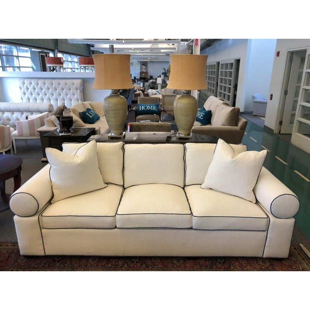 Contemporary Modern Hickory Kennedy Sofa For Sale - Image 3 of 9