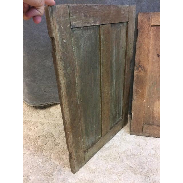 Vintage Rustic Wood Cabinet Doors - A Pair - Image 5 of 11