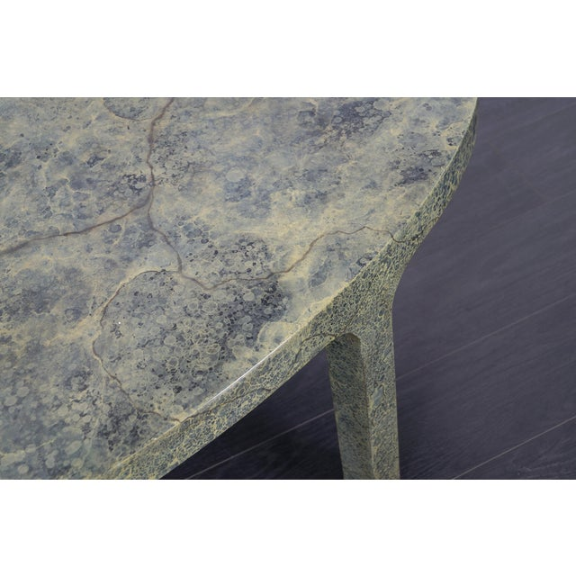 Mid-Century Modern Vintage Faux Goatskin Coffee Table For Sale - Image 3 of 7