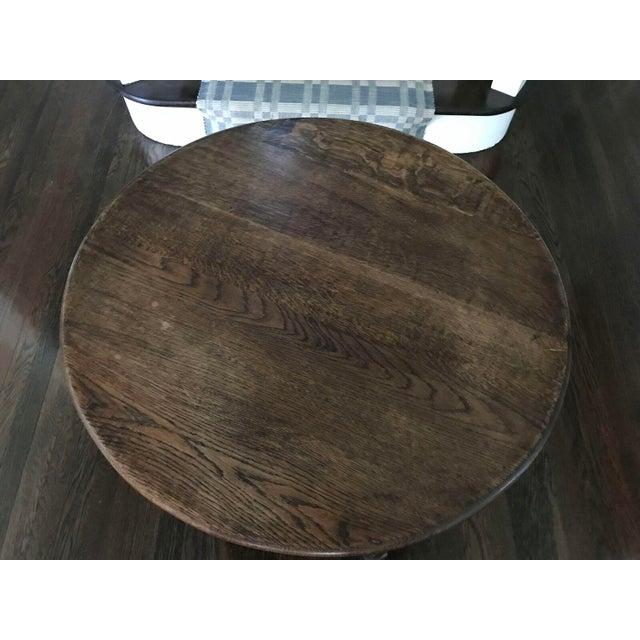 Round Wood Bobbin Table - Image 5 of 6