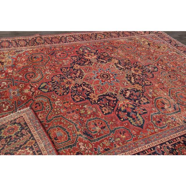 "Apadana - Vintage Persian Heriz Rug, 9'9"" x 13' For Sale In New York - Image 6 of 7"