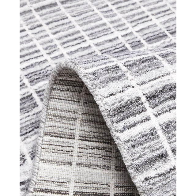 2020s Finley, Contemporary Modern Loom Knotted Area Rug, Pewter, 12 X 15 For Sale - Image 5 of 9