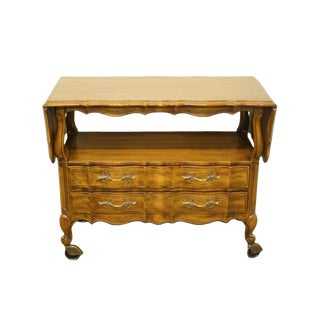 1970s French Provincial Thomasville Furniture Tableau Collection Drop-Leaf Server For Sale