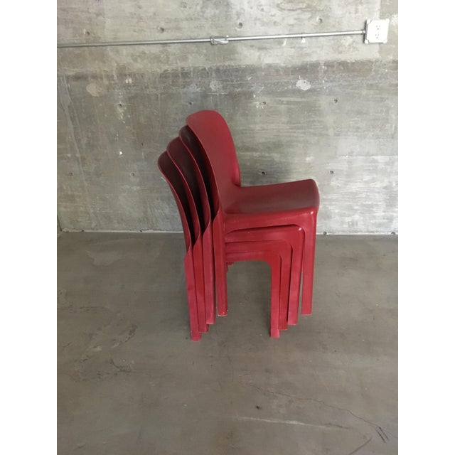 1980s Vintage Vico Magistretti Stacking Chairs- Set of 4 For Sale In Los Angeles - Image 6 of 8