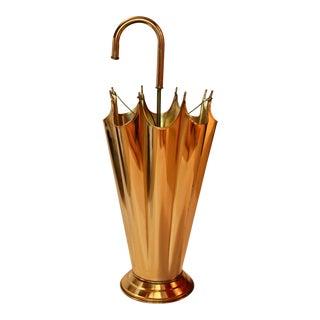 "Vintage Brass ""Umbrella"" Umbrella Stand For Sale"