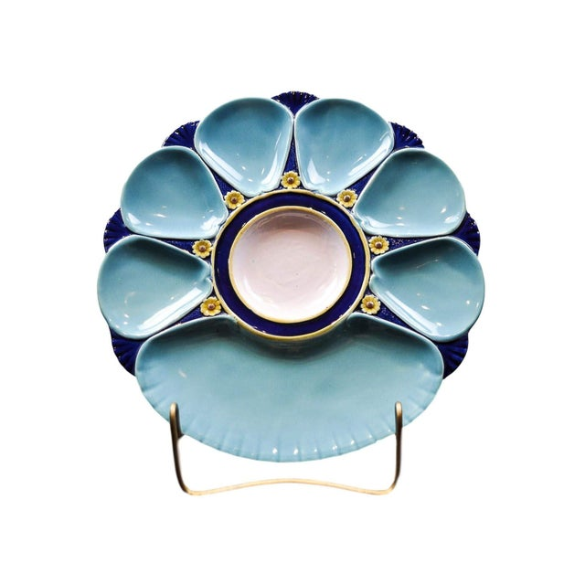 Minton Majolica Oyster Plate For Sale - Image 11 of 11