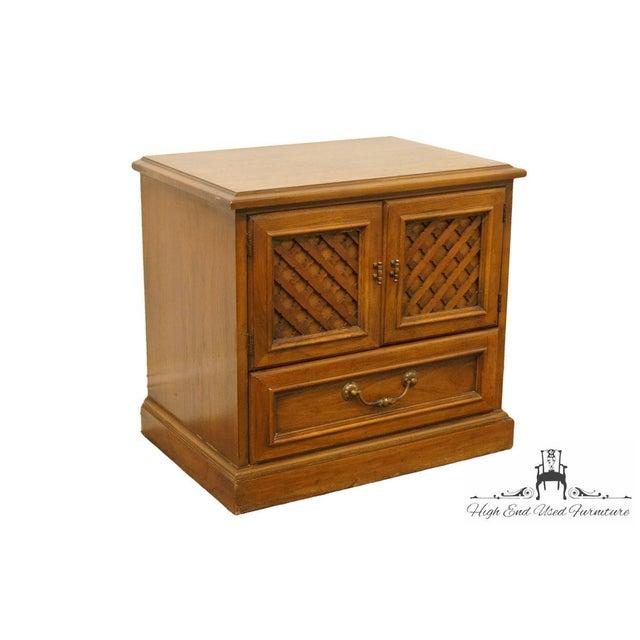 "Mediterranean Drexel Esperanto Collection Spanish Mediterranean 26"" Cabinet Nightstand 401-620 For Sale - Image 3 of 13"