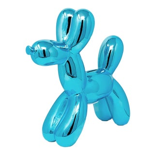 "Interior Illusions Plus Blue Balloon Dog Bank - 12"" Tall For Sale"
