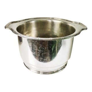 1950 Silver Plated Champagne Bucket From Pullman Company For Sale