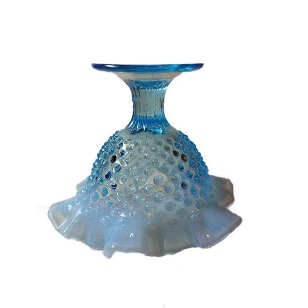 Fenton Blue Opalescent Hobnailed Glass Bowl - Image 2 of 4