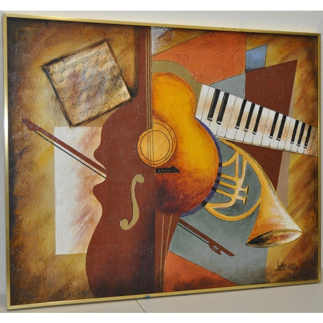 "Lee Reynolds Vintage ""Music"" Painting C.1960s - Image 3 of 7"
