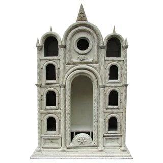 Tramp Art Church Cabinet
