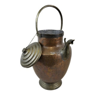 Antique Copper & Bronze Water Jug