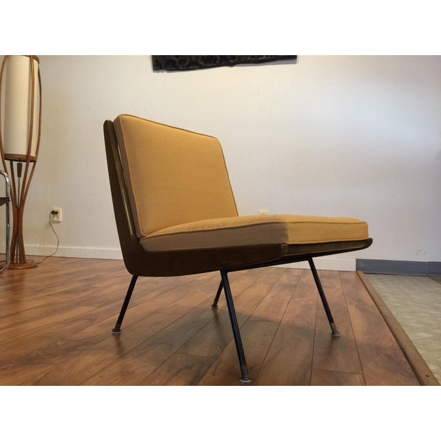 New Yellow Upholstery Mid-Century Boomerang Chair For Sale - Image 4 of 11