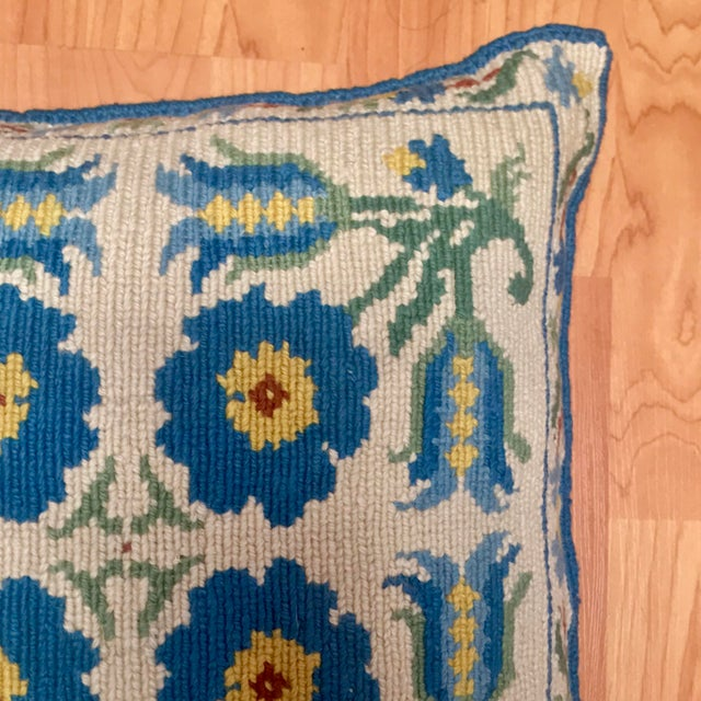 1950s 1950s Shabby Chic Handmade Needlepoint Pillow For Sale - Image 5 of 13