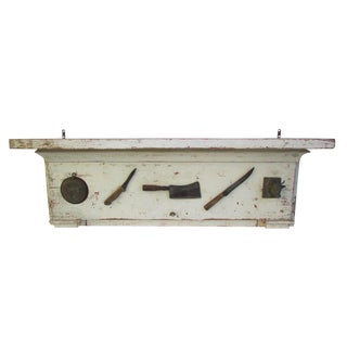Painted Butcher Shop Mantle, Circa 1900