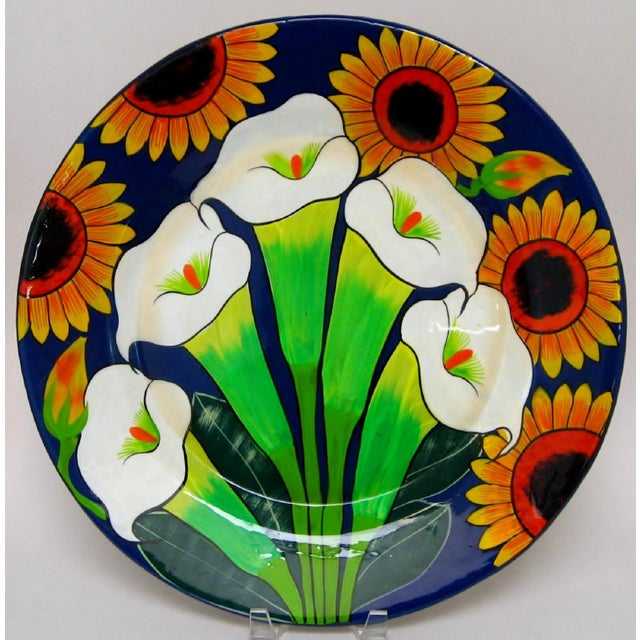 Ceramic Large Mexican Ceramic Plate For Sale - Image 7 of 7