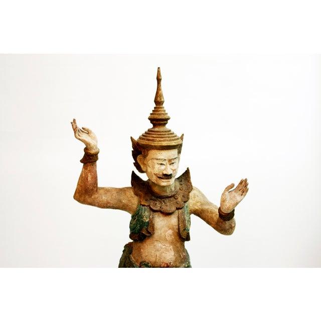 Wooden Burmese Standing Nat Spirit For Sale - Image 4 of 6