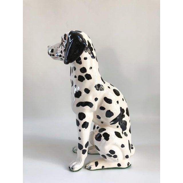 Mid-Century Large Italian Dalmatian Dog Statue For Sale In Boston - Image 6 of 8