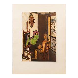 "1940s Henri Matisse, ""The Painter and His Model"" Original Period Swiss Lithograph For Sale"