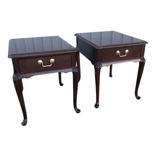 Georgian Thomasville Mahogany Side Tables - a Pair For Sale