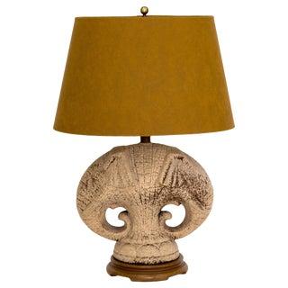 Double Elephant Lamp W/ Shade